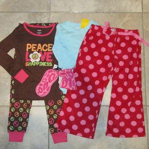 NWT Gymboree Gap 4pc Winter Pajama Lot 4